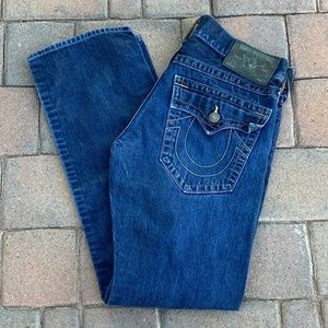 TRUE RELIGION Mens Jeans Tag 32 Actual 34x34 Ricky
